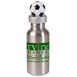 Custom imprinted 17 oz. Stainless Bottle with Soccer Lid