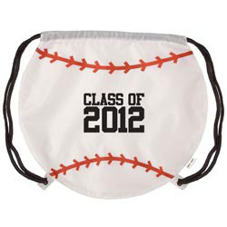 Custom imprinted GameTime! Baseball Drawstring Backpack
