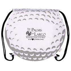 Custom imprinted GameTime! Golf Ball Drawstring Backpack