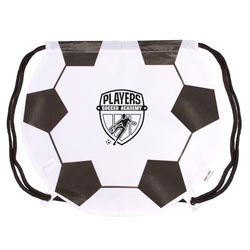 Custom imprinted GameTime! Soccer Ball Drawstring Backpack