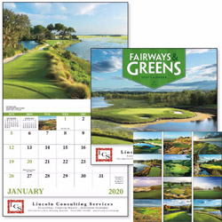 Custom imprinted Fairways & Greens 13 Month Calendar