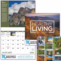 Custom imprinted Healthy Living 13 Month Calendar