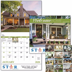 Custom imprinted Welcome Home 13 Month Calendar