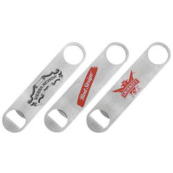 Custom imprinted Paddle Style Stainless Steel Bottle Opener