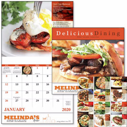 Custom imprinted Delicious Dining 13 Month Calendar
