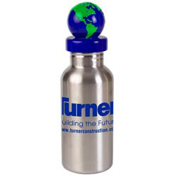 Custom imprinted 17 oz. Stainless Bottle with Global Lid
