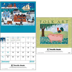 Custom imprinted Folk Art 13 Month Calendar
