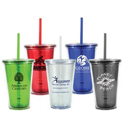 Custom imprinted 16 oz. Freedom Facet Tumbler