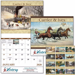 Custom imprinted Currier & Ives 13 Month Calendar