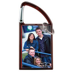 Custom imprinted Carabiner Snap-In Photo Keytag