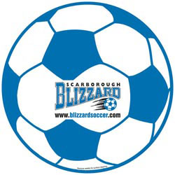 Custom imprinted Soccer Ball Car Magnet