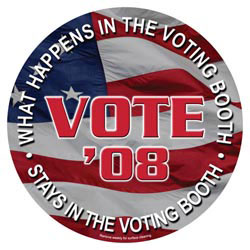 Custom imprinted Vote Car Magnet