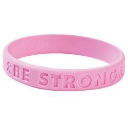 Custom imprinted Be Strong Awareness Bracelet