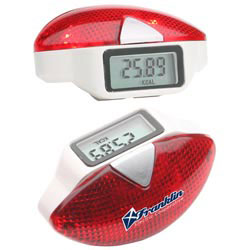 Custom imprinted Safety Flash Pedometer