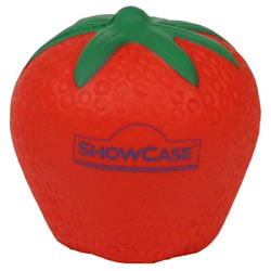 Custom imprinted Strawberry Stress Reliever