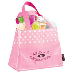 Custom imprinted Laminated Non-Woven Mini Dot Tote
