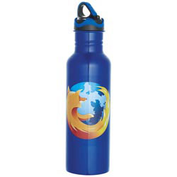 Custom imprinted Colorband Stainless Bottle