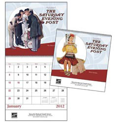 Custom imprinted The Saturday Evening Post - Spiral Calendar