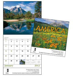 Custom imprinted Landscapes of America - Stapled Calendar