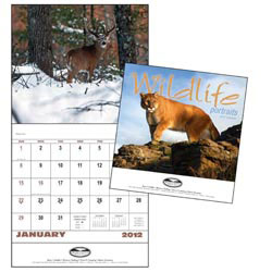 Custom imprinted Wildlife Portraits - Stapled Calendar