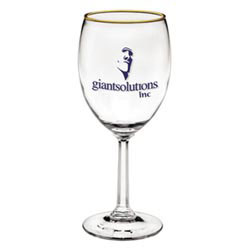Custom imprinted 10 oz. Napa Valley Goblet w/ Optic Stem
