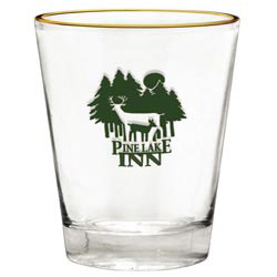 Custom imprinted 1.75 oz. Super Saver Tapered Shot Glass