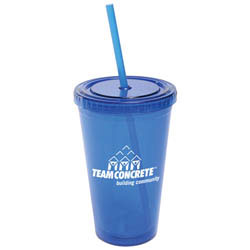 Custom imprinted All-Pro Acrylic Cup with Straw