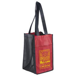 Custom imprinted Sun Shower 4 Bottle Wine Bag
