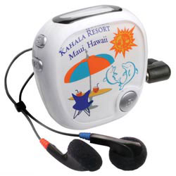 Custom imprinted Walk 'n Roll Radio Pedometer