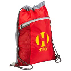 Custom imprinted Cyclone Mesh Pocket Drawstring Backpack