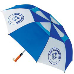 Custom imprinted Folding Hurricane Umbrella