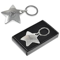 Custom imprinted Star Metal Keychain