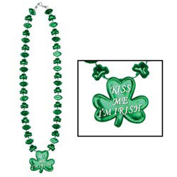 Custom imprinted Shamrock Necklace
