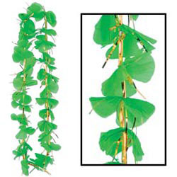 Custom imprinted Shamrock Party Lei