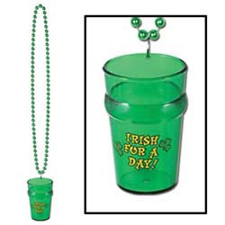 Custom imprinted Beads w/St Pat's Glass
