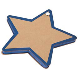 Custom imprinted Recycled Star Notepad