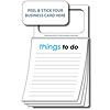 Magnetic Business Card Notepad - Things To Do