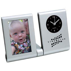 Custom imprinted Clock Picture Frame