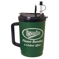 Custom imprinted 32 oz. Flip Sip Mug with Lid & Straw