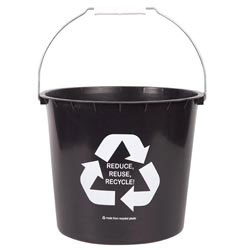 Custom imprinted 7 Quart Recycled Pail