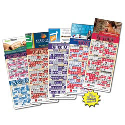 Custom imprinted Baseball Schedule Business Card Magnet