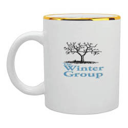 Custom imprinted 11 oz. White Ceramic Mug