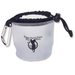 Custom imprinted Drawstring Bag with Carabiner