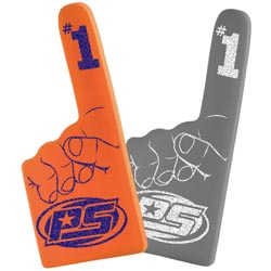 Custom imprinted 16 Inch #1 Economy Foam Hand