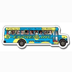 Custom imprinted Magnet - School Bus Shape