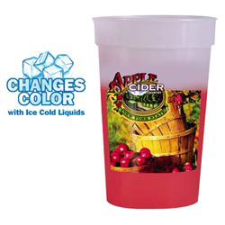 Custom imprinted 17 oz. Mood Stadium Cup (1 Side), Full Color Digit