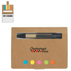 Custom imprinted Eco-Friendly Memo Case With Sticky Flags & Pen