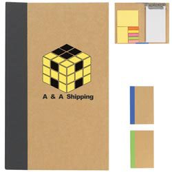 Custom imprinted Notebook With Clip Board, Sticky Notes And Sticky