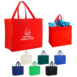 Custom imprinted Heat Sealed Non-Woven Grande Tote Bag