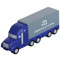 Custom imprinted Semi Truck Stress Reliever